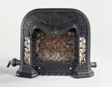 Asbestos-radiant gas fire, 1885.