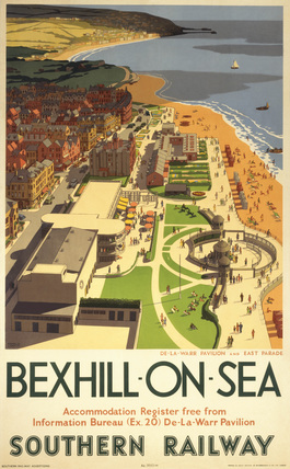 SR poster. Bexhill-on-Sea, SR poster, 1947.