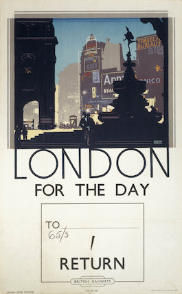 London for the day, British Railways poster, c 1940s.