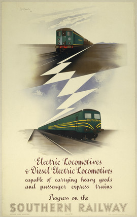 'Progres on the Southern Railway', SR poster, 1947.