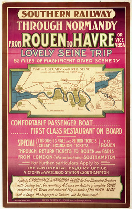 Through Normandy from Rouen to Havre', SR poster, c.1920s.