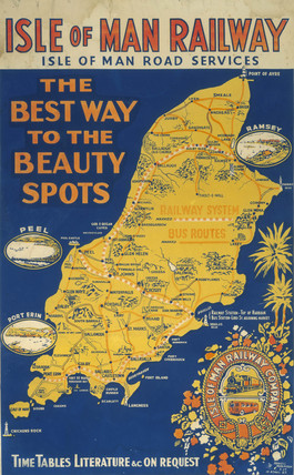 'The Best Way to the Beauty Spots', Isle of Man Railway poster, c 1920.