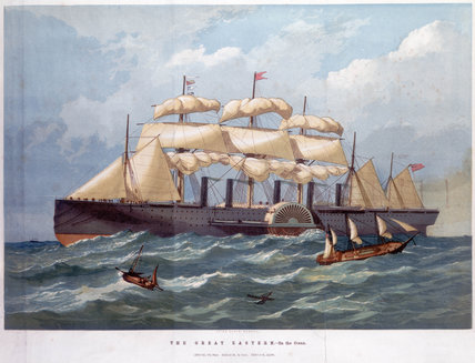 Ps 'Great Eastern' on the ocean, 1859.