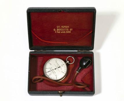 Sphygmomanometer (blood presure apparatus), 1890.