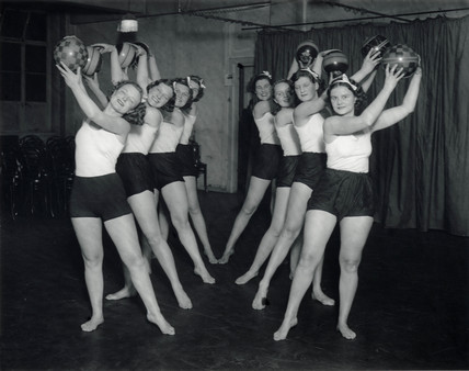 Dance exercise clas with balls, 30 January 1934.