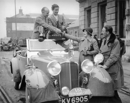 British rally winners on their return from the Monte Carlo Rally,  28 January 1934.