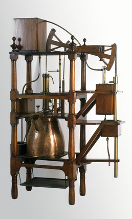Newcomen engine, 1752.