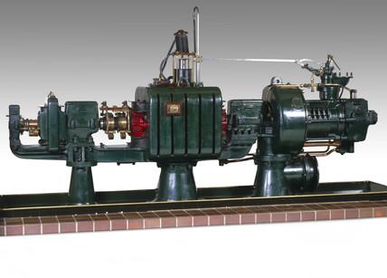 Parsons' radial flow steam turbine-generator, 1891.