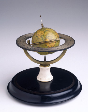 Terrestrial globe, 1855-1860.