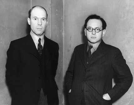 Santo Jeger with Mark Auliff, 30 January 1937.