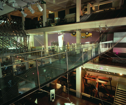 Glas bridge, Challenge of Materials Gallery, Science Museum, 1998.