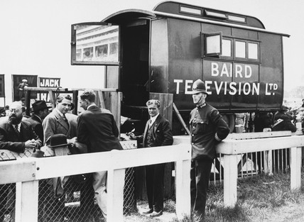 First televised Epsom Derby, 2 June 1931. '