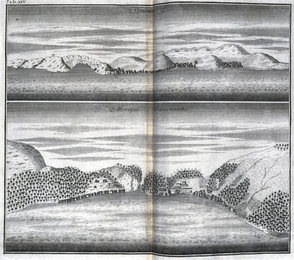 Shimozu and the Straits of Kaminoseki, Japan, c 1690.