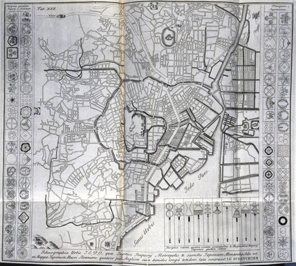 Map of Edo (present-day Tokyo), Japan, c 1690.