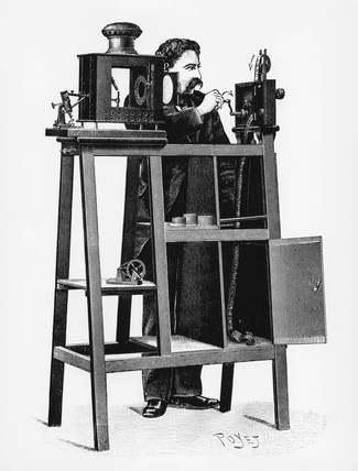 Lumiere Cinematographe, c 1897.