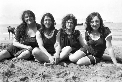 Women on the beach, c 1920s.