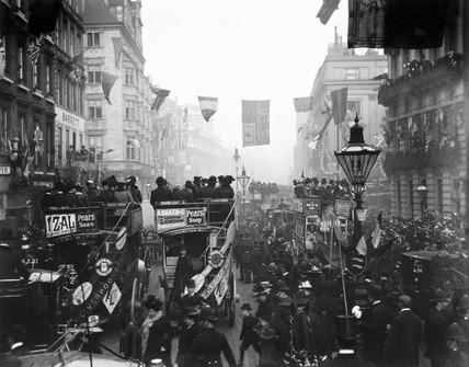 Celebrations in Regent Street, London, c 1910s.