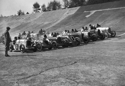 Brooklands racetrack, Weybridge, Surrey, 30 April 1927.
