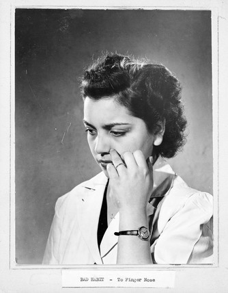 'Bad habits - to finger the nose', 1947-1955.
