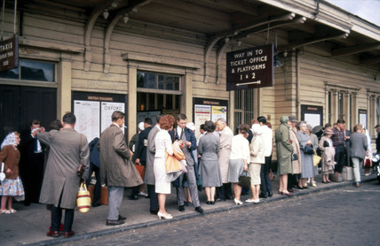 Exterior of Oxford Station, 1963.
