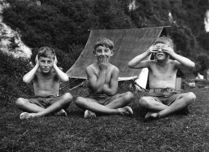 Hear no evil, speak no evil, see no evil', c 1920s.