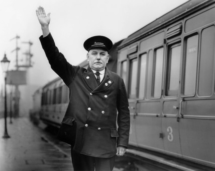LMS foreman, Chorley Station, Lancashire, 1937.