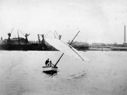 Percy Pilcher, designer and glider aeronaut, late 19th century.