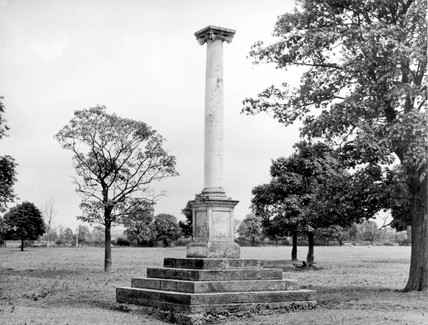 Percy Pilcher's memorial, Stamford Park, Rugby, 1998.