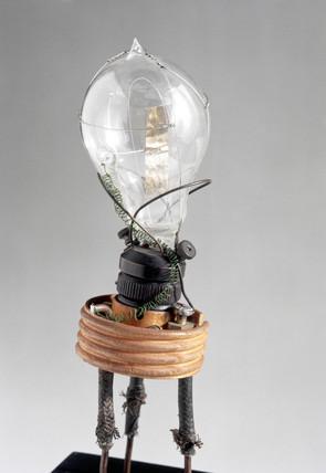 Fleming's original thermionic valve, 1889.