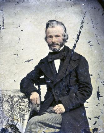 John Stringfellow, English pioneer aviator, c 1855.