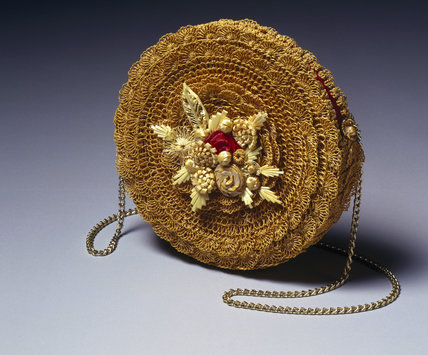 Twisted straw handbag, c 1995.