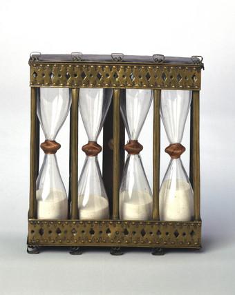 Four-way sand glas, Italian, 17th century.