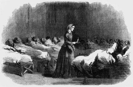 Florence Nightingale, English nurse and hospital reformer, 1855.