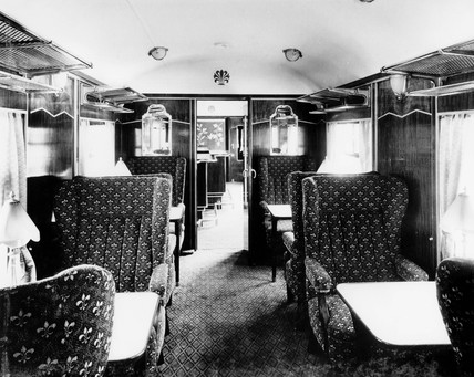 pullman car pegasus bar interior 1951 at science and society picture library. Black Bedroom Furniture Sets. Home Design Ideas