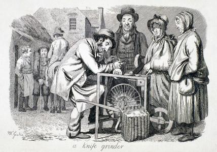 'A knife grinder', 1833.