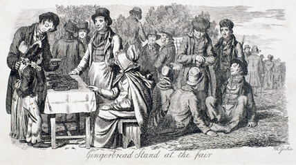 'Gingerbread stand at the fair', 1833.