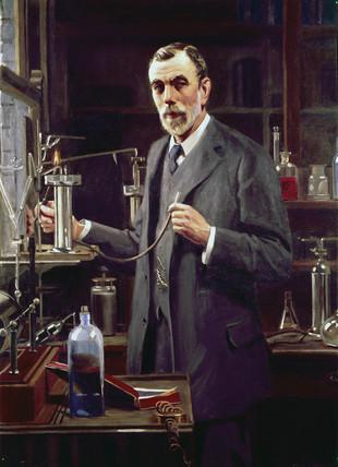 Sir William Ramsay, Scottish chemist, 1913.