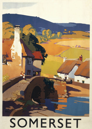 Somerset, GWR poster, c 1930s. Great Wester