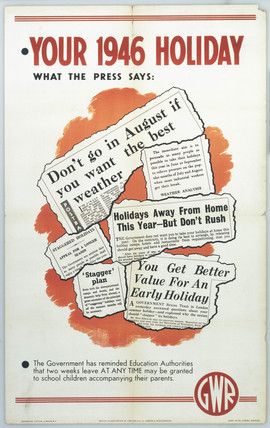 'Your 1946 Holiday', GWR poster, 1946.