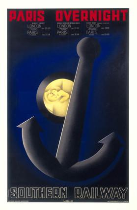 'Paris overnight', SR poster, 1934.