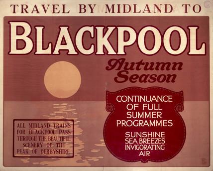Blackpool, Midland Railway poster, c 1930s.