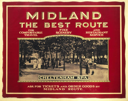 Cheltenham Spa, Midland Railway poster, c.1920s.