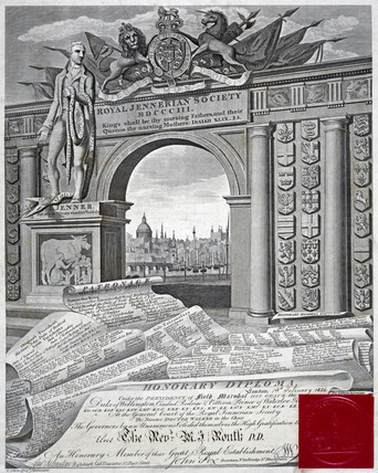 Royal Jennerian Society Honorary Diploma, 1826.