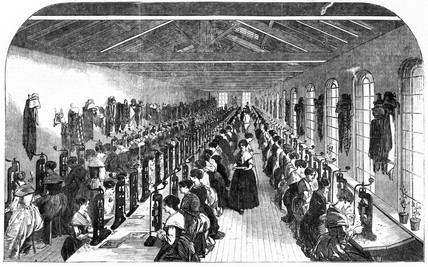 The Slitting Room of Birmingham Pen Factory, 1851.