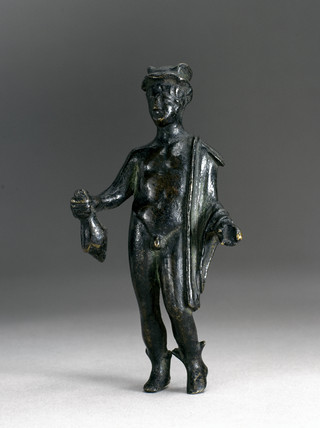 Bronze statuette of the god Mercury, Italy.