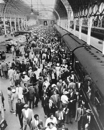 West Indians arriving at Plymouth Station, 21 June 1959.