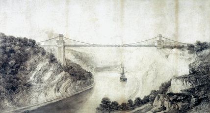 Design for the Clifton Suspension Bridge, Bristol, 1830.