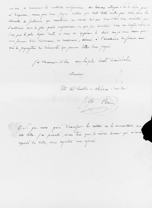 Letter to Fox Talbot from Jean-Baptiste Bio