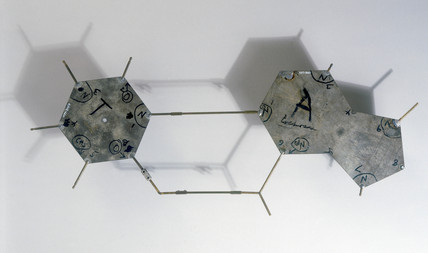 Templates from Crick and Watson's DNA molecular model, 1953.