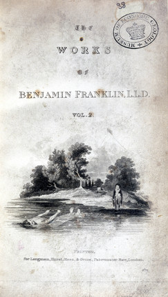 Title page of 'The Works of Benjamin Franklin', 1806.